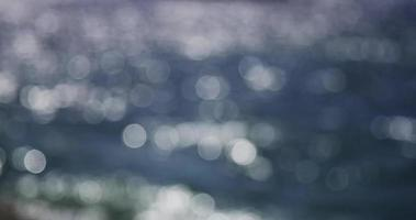 Bokeh clip of sunlight reflecting on the sea. video