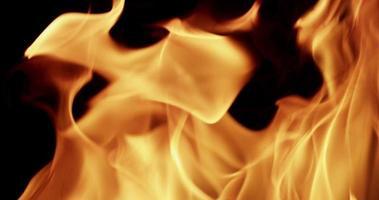 struttura calda di fiamme arancioni disegno forme casuali al rallentatore 4K