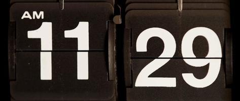 cambio de reloj retro de 11:29 am a 11:30 am en 4k