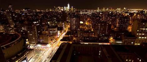 Spectacular nocturnal timelapse of New York City from skyscraper  video