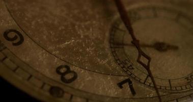 close-up extremo do ponteiro do relógio dos segundos movendo-se quarenta e dois minutos, começando no segundo 15 em um lapso de tempo de 4k video