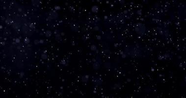 modelo de tempestade de neve em noite fria de inverno em 4k video