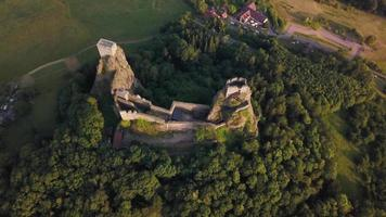 Drone footage - orbiting old castle in 4K