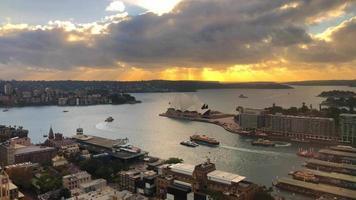 ópera de Sydney com porto 4k video