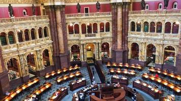 biblioteca do congresso sala de leitura 4k video