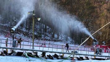 sopradores de neve em gatlinburg 4k video