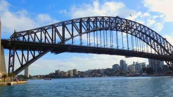 foto apertada da ponte do porto 4k