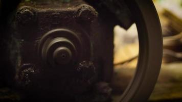 Nahaufnahme des Luftkompressormotors