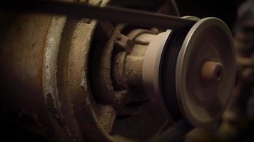 Nahaufnahme des Luftkompressormechanismus