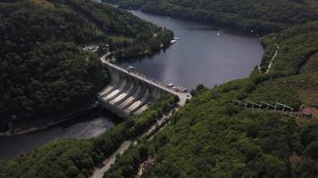 Dam Wall From a distance Drone View In 4K
