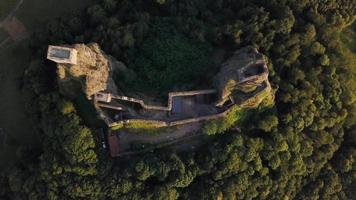 Old castle - drone going up in 4K