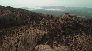 Flying over rocks in 4K