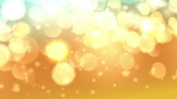 bokeh dourado ilumina partículas e starglow video