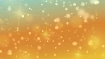 or bokeh allume les particules et les étoiles