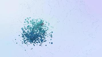 dirección de correo electrónico correo carta icono animación burbujas salpicar elementos morphing video