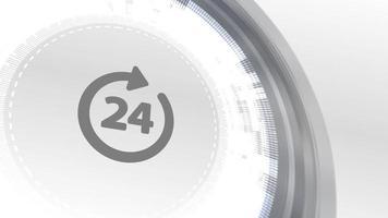 botón de negocio servicio de 24 horas icono de red en línea