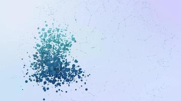 litecoin criptomoneda icono animación burbujas salpicaduras elementos morphing