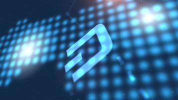 Traço ícone de criptomoeda animação azul fundo de tecnologia de mapa mundial digital video