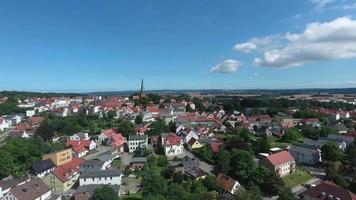 Vista aérea de la ciudad alemana de bergen auf ruegen mecklenburg