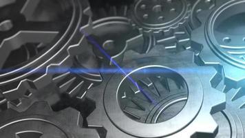engranajes giratorios máquina mecánica mecánica video