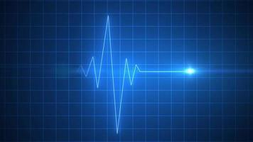 Animated blue EKG Display heart pulse medicine