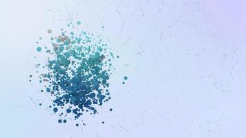 estafa criptomoneda icono animación burbujas salpicar elementos morphing