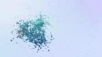 ondulação do ícone da criptomoeda animação bolhas respingos de elementos de transformação video