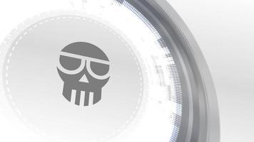 estafa cryptocurrencyicon animación blanco elementos digitales tecnología fondo