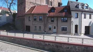 rote spitzen altenburg cidade medieval com torres vermelhas antigas