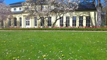 Teahouse of the castle at Altenburg summer spring green video