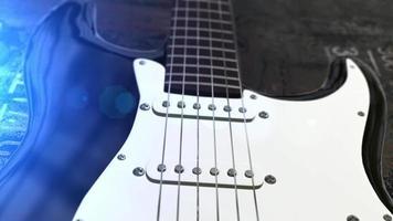 animação de guitarra elétrica 3d