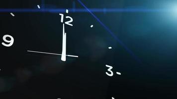 Cuenta atrás del reloj marcando la medianoche 20 segundos con fondo negro video
