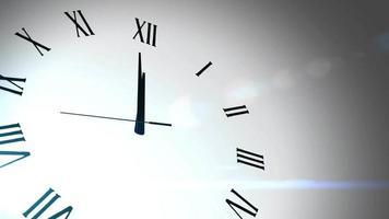 Cuenta atrás del reloj marcando la medianoche 20 segundos con fondo blanco. video