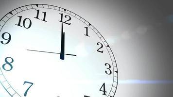contagem regressiva do relógio marcando meia-noite 20 segundos com fundo branco video