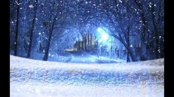 neve mágica - loop de fundo de vídeo de natal de neve video