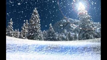 Magical Snow - Snow Christmas Video Background Loop
