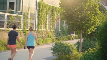 corredores e ciclistas em ciclovias e pistas de corrida video