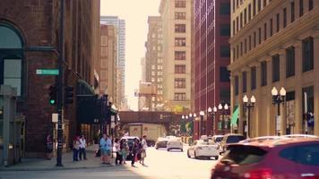 belos edifícios perto da estação ferroviária em chicago video