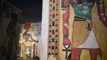 Egyptian Art In Walls Of Anubis And Horus