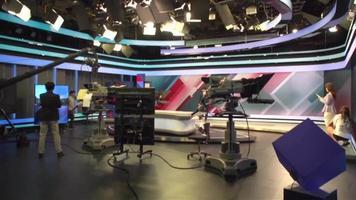 estúdio de televisão video