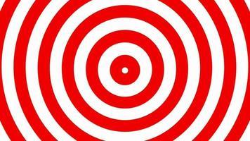 bucle de fondo de círculos hipnóticos