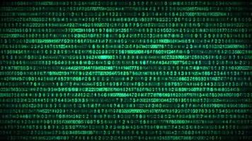 Binary Code Data Security Distort Background video