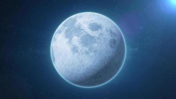 schöne hd Mondlandschaft auf Raumhintergrund video