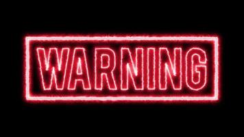 4k fond d'avertissement de danger