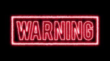 4k aviso de fundo de perigo video