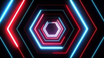 Neonpolygon des abstrakten digitalen Hintergrunds 4k