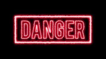 aviso de fundo de perigo video