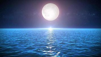 Seascape In The Moonlight Background
