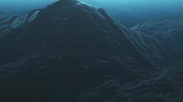 4k stürmischer Ozeanoberflächenhintergrund video