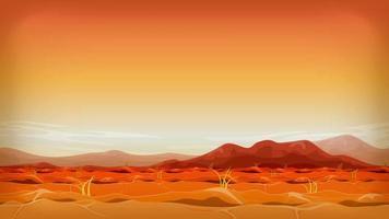 loop de imagens de paisagem do deserto do extremo oeste
